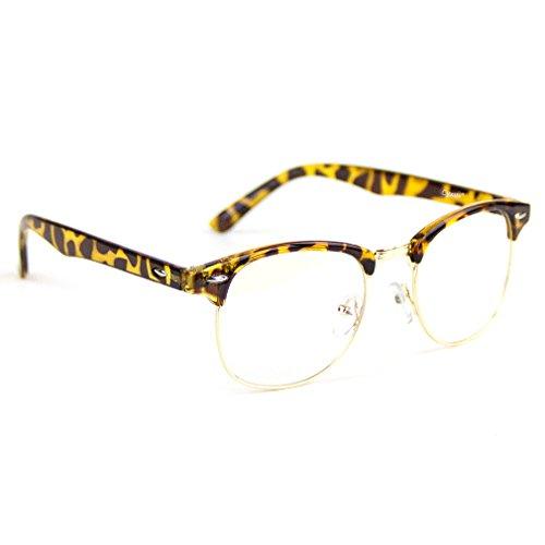Discover Bargain Cyxus Blue Light Filter Semi-Rimless Glasses, Anti Eyestrain Computer Reading Eyewe...