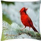 Winter red - Throw Pillow Cover Case (18