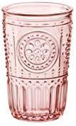 Bormioli Rocco 090796 Romantic - Juego de 4 vasos de cristal, color rosa, 34 cl