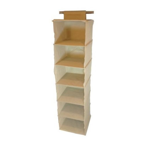 6 shelf hanging canvas wardrobe storage unit clothes sweater shoe rh amazon co uk Wooden Shelves argos canvas hanging shelves