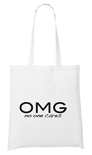 OMG - No One Cares Bolsa Blanco