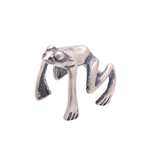 Paialco Oxidized Sterling Silver Frog Ear Cuff Single Cartilage - Oxidized Ear Cuffs