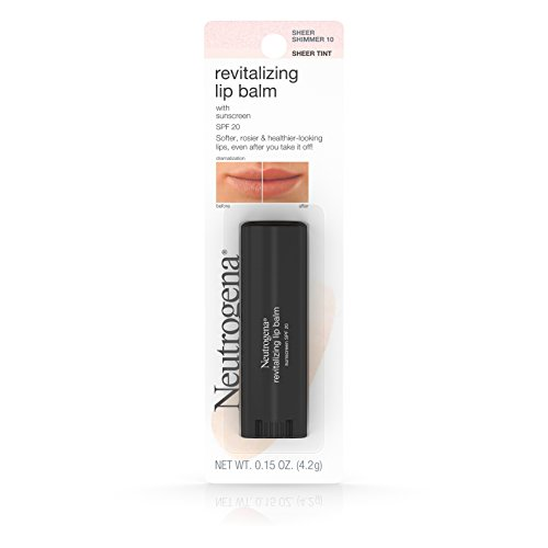 Neutrogena Revitalizing Lip Balm SPF 20, Sheer Shimmer [10], 0.15 oz