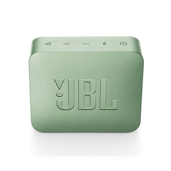 JBL Go 2 - Mini enceinte Bluetooth Portable - Étanche pour Piscine & Plage Ipx7 - Autonomie 5hrs - Qualité Audio JBL - Menthe 5