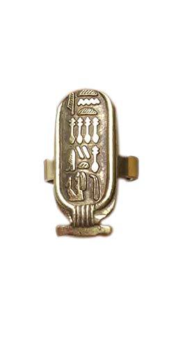 bonballoon Egyptian Egypt Hand Made Brass Finger Ring Adj Gypsy Arabic Calligraphy Arabian Bedouin siwa Jewelry Tribal Oriental with Antique Look Belly Dance (Model -