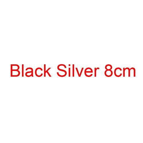 Mujeres Estilete Tacones Black Silver Tacón del Zapatos De Bombas Zapatos Grande del Brillo Altos De De Pequeño Oro 8cm Plata VIVIOO Las Mujeres Boda Alto v8gBTxB
