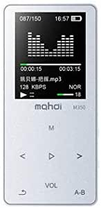 WZY Sports MP3 MP4 Music Player Mini Student Walkman with Screen Card Voice Recorder, Memory Size:8GB(White) (Color : Silver)