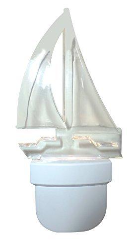 AmerTac 71074 Sailboat Night Light, White
