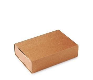 Caja Tipo de cerillas, Packaging de Regalo. Color Kraft. Pack de 50 Unidades - L: Amazon.es: Hogar