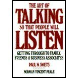 The Art of Talking So That People Will Listen, Paul W. Swets, 0130478377