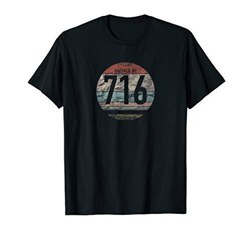 Retro 716 Area Code Buffalo NY Souvenir T-Shirt (Buffalo Shop Buffalo, Ny)