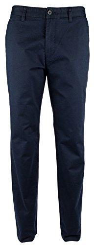 Nautica Men's Flat Front Slim Fit Twill Chino Marina Stretch Pant, Navy, 38W x 32L ()