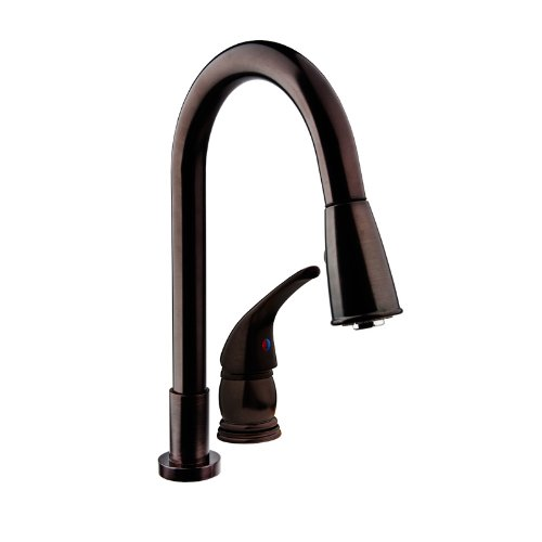 Dura Faucet Pull-Down RV Kitchen Faucet with Side Lever - for Recreational Vehicles