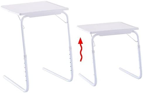 2 x Adjustable PC Laptop Desk Table Tray Folding Home Office w// Cup Holder