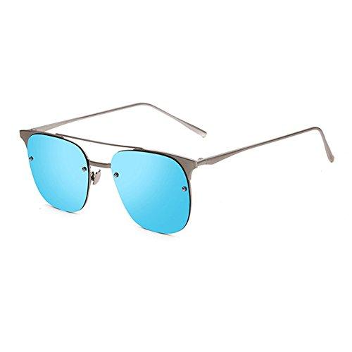 Retro Azul 100 Protección Coloreado Azul Sra de UVA WYYY Solar Anti Protección Luz Espejo UV sol Polarizada Color gafas Decoración Clásico Hombres YUn0Rxn