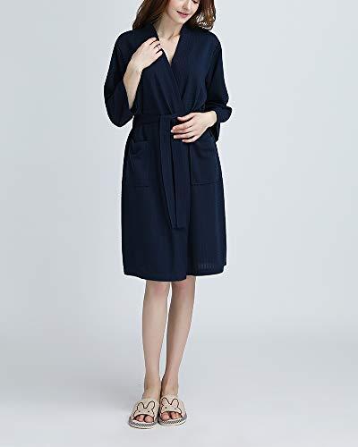 DianShaoA Albornoz para Hombre Y Mujer Kimono Batas Cortos Lencería De Aspecto Brillante SPA Hotel Sauna Robe: Amazon.es: Ropa y accesorios