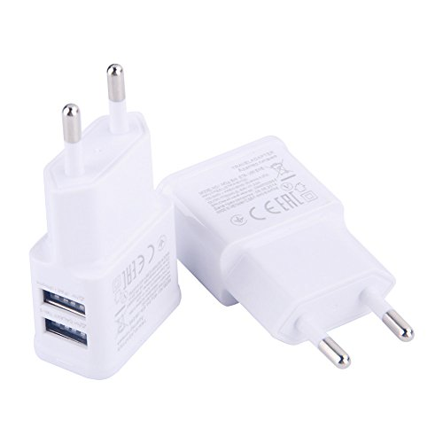 Price comparison product image utp Universal Dual USB EU Plug 5V 2A Wall Travel Power Charger Adapter for iPhone4 5 5S 7 6 6S Plus for Samsung Galaxy Phone Charger