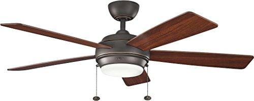 (Kichler 300173OZ 52-Inch Starkk Fan, Olde Bronze)