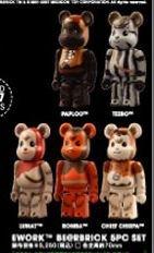 STARWARS Ewok EWORK BE @ RBRICK Bear Brick 5pc set by Bearbrick