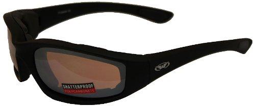 Global Vision Kickback Motorcycle Glasses (Black Frame/Driving Mirror - Amazon Mirror Glasses