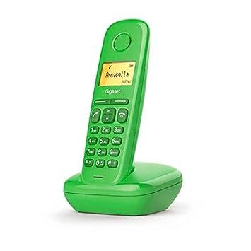 Gigaset A170 - Teléfono inalámbrico, Pantalla iluminada, Agenda de 50 contactos, Color Verde