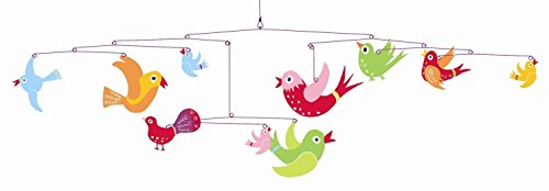 Djeco Hanging Mobile, Colorful Flights of Fancy (Hanging Paper Mobile)