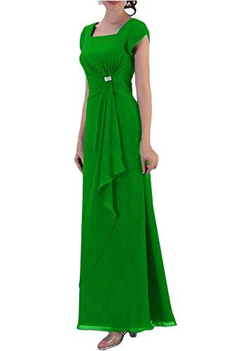 Toscana noche de novia Mode schlicht Noche de gasa Vestidos Largo Fiestas novia Vestidos de pelota Verde