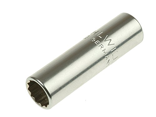 Stahlwille 40ADL-3/16 Steel Bi-Hex Extra Deep Socket, 1/4
