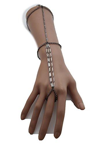 tfj-women-fashion-jewelry-hand-chain-metal-wrist-arm-double-bracelet-slave-ring-finger-pewter-color