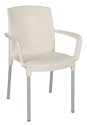 Claire Stool (Tensai Claire Collection Narrow Square Back Durable Plastic Chair - White)