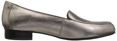 Pewter Leather Para Mocasín Clarks Mujer Lora Juliet qqgxPS