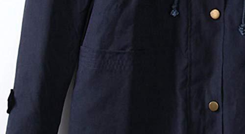 Blu Gocgt Lunga Giacca Parka Donne All'aperto Cappotti 6SFn6