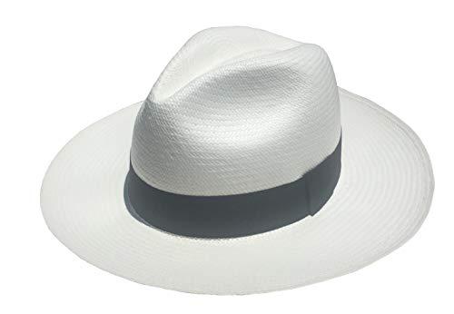 Panama Hat, Handwoven in Montecristi, Ecuador (Large) White