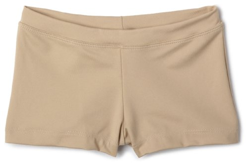 [Capezio Big Girls' Boy Cut Low Rise Short,Nude,M (8-10)] (Guy Dance Costumes)