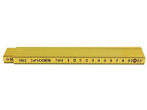 doble, 2 m Toolland WM300020 Regla plegable de fibra de vidrio
