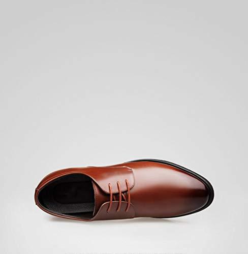 in uomo scarpe Estate aumento invisibile da Marrone d'affari da scarpe in casual pelle marea da pelle WFL delle uomo nero uomo vestito qIwTFxwd