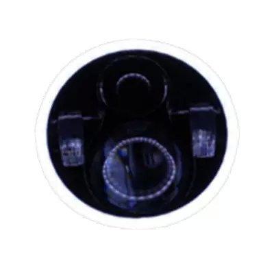 APHRODITE 2PCS 7'' Inch Round 40W LED Halo Angle Eyes Headlights For Jeep Wrangler MS002B