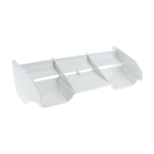HobbyMarking RC Car 1/8 Off-Road Body Spoiler Hi-Down Force Rear Wing for 1:8 RC Buggy Drift Car Accessories Parts (White)