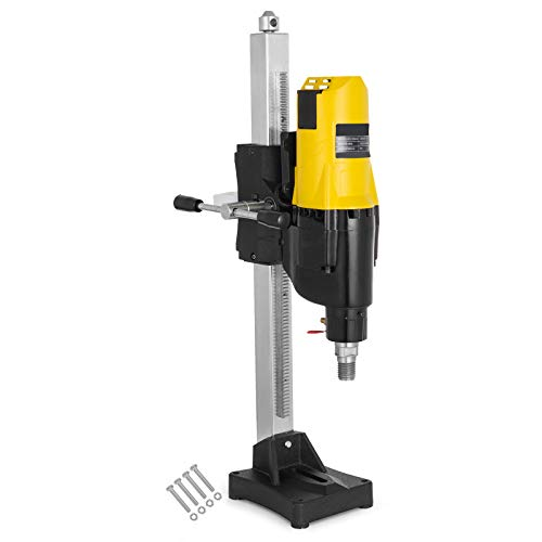 Photo Happybuy Diamond Core Drilling Machine 10 Inch 255mm Diamond Core Drill Rig with Stand Wet Dry Core Drill Rig for Diamond Concrete Drilling Boring (Drill Bit Diameter: 4.25