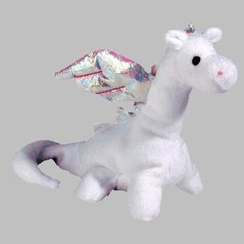 TY Beanie Baby - MAGIC the White Dragon (4th Gen hang tag)