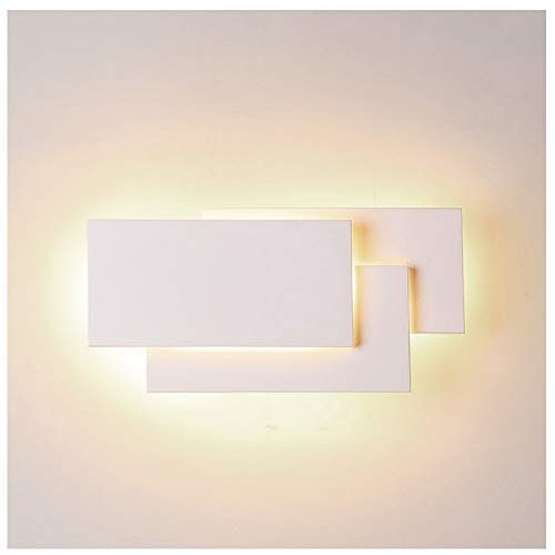 Ralbay 12W LED Wall Sconces Lighting Interior Wall Lamp Contemporary Wall Mounted Lamp With Aluminum Shell for Indoor Bedroom Hotel Light Bathroom Vanity Light 85V~265V AC (White 2700K-3200K) -
