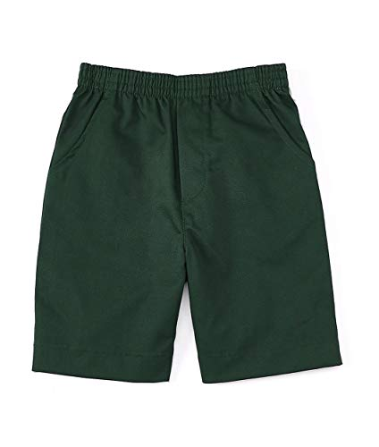 unik Boys All Elastic Waist Pull up Shorts Navy Khaki Black (Hunter Green, 12) ()