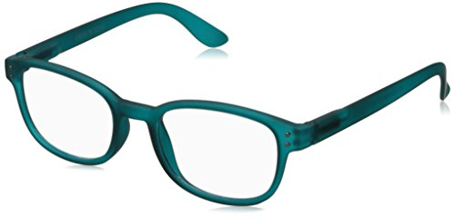Corinne McCormack Women's Teal Color Spex 1015413-200.CMC Square Reading Glasses, Teal, - 2017 Glasses Reading Frames