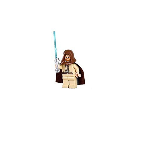 Lego Star Wars Obi-Wan Kenobi Minifigure with Lightsaber (Headset (Jedi Mini Figure)
