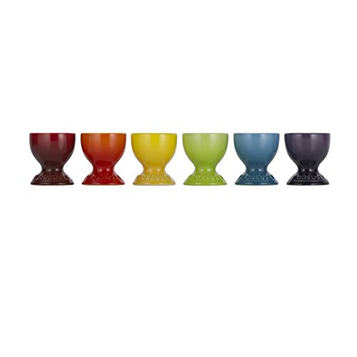 Le Creuset Stoneware Rainbow Egg Cup Gift Set, Multi-Color -