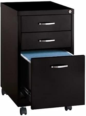 Amazon Com Cooper 3 Drawer File Cabinet In Black Office Products