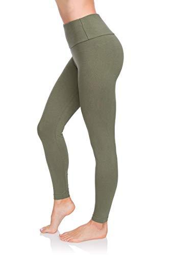FUTURO FASHION – Legging de qualité pour Femme LWP – Taille Haute – Hiver – Coton Doux – Grandes Tailles