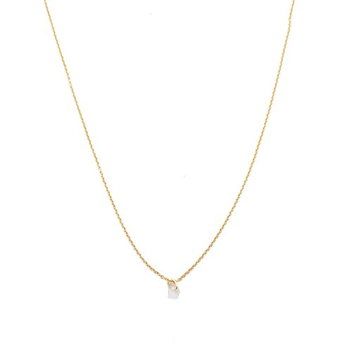 HONEYCAT Clear Quartz Karma Single Crystal Necklace in Gold Plate | Minimalist, Delicate Jewelry - Gold Clear Crystal