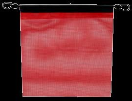 6 Red Mesh Truck Trailer Safety Flags 18''x18'' w Bungees