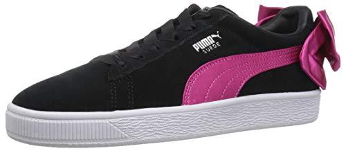 PUMA Kids Suede Bow Jr Sneaker,
